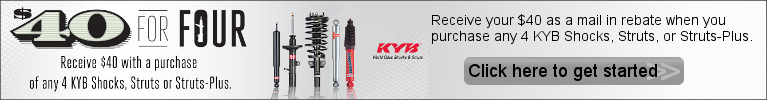 KYB $40 for 4 Promotion